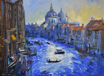 Richard Blowey Original Oil Painting Venice Canal Italy